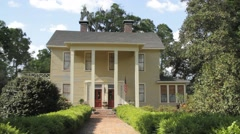 Front of Colonial House Stock Footage
