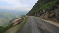Timelapse high mountain road Vietnam Stock Footage