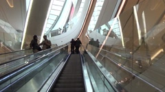 Levator moving in the IFS shopping mall in Chengdu, Sichuan, China Stock Footage