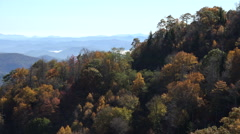 scenic view from overlook on blue ridge parkway road, asheville, nc, usa - stock footage