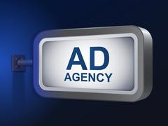 Stock Illustration of ad agency words on billboard