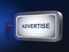 Stock Illustration of advertise word on billboard