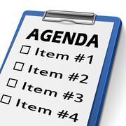agenda clipboard - stock illustration
