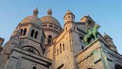 Sacre Coeur Sacred Heart Church Montmartre, Paris, France 4K Stock Video Footage Stock Footage