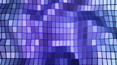 3D Looping Background - Purple shimmering polygon wall Stock Footage