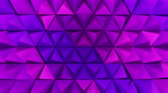 3D Looping Background - Purple pyramid peaks thrust in hexagon pattern Stock Footage