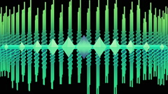 Abstract audio visualizer scrolling waveform beams - VJ Loop - stock footage