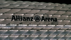 Allianz Arena football stadium in Munich. real time,ZOOM Stock Footage