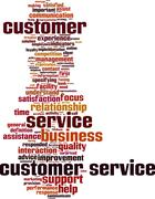 Customer service word cloud Stock Illustration