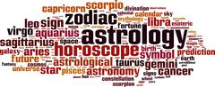 Astrology word cloud Stock Illustration