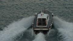 Rome Italy Civitavecchia Port pilot boat 4K 049 Stock Footage