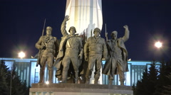 RUSSIA  MOSCOW monument-soldiers Stock Footage