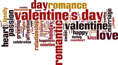 Stock Illustration of valentine's day word cloud