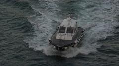 Rome Italy Civitavecchia Port pilot boat 4K 056 Stock Footage