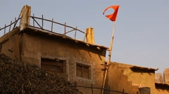 Close-Up Of orange Flag Stock Footage