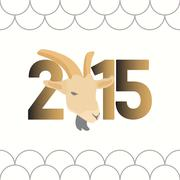 Chinese new year of the goat 2015 Stock Illustration