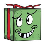 gift funny expression characters - stock illustration