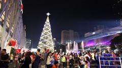 Christmas tree to celebrate the New Year. Stock Footage
