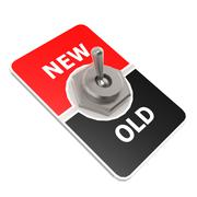 new old toggle switch - stock illustration