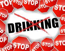 stop drinking - stock illustration