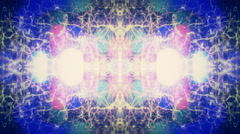 Abstract kaleidoscope 1920x1080 Design retro Building Lights background Stock Footage