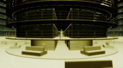 4K Ultra Modern Data Center 3D Animation 4 Stock Footage