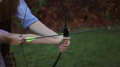 Stock Video Footage of archery on target