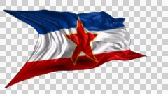 Socialist Federal Republic of Yugoslavia flag Stock Footage