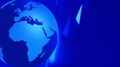 Globe earth spinning animation blue background - stock footage