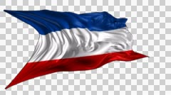 Flag of Yugoslavia - stock footage