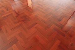 parquet wood of floor design in house - stock photo