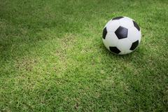 Stock Photo of soccer ball on green grass