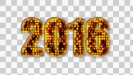 Stock Video Footage of 4K New Years 2016 Graphic