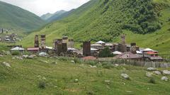ushguli, georgia - stock photo