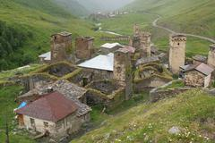 ushguli, georgia, europe - stock photo