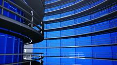 Ultra Modern Data Center 3D Animation 10 Stock Footage