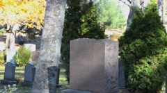 Ghost in Cemetery Stock Footage