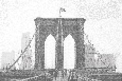 Brooklyn Bridge - stock illustration