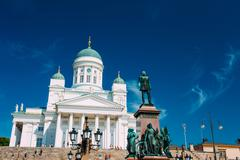Stock Photo of Helsinki Cathedral, Helsinki, Finland. Summer Sunny Day