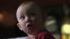 Stock Video Footage of Sad One Year Old
