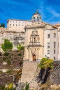 Parador nacional of cuenca in castille la mancha, spain. Stock Photos