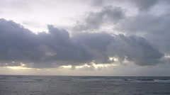 Ocean and Morning Clouds Time Lapse Stock Footage