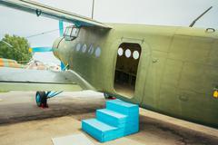 Famous soviet plane paradropper Antonov An-2 Heritage of Flying Stock Photos