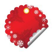 christmas tags - stock illustration