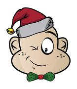 Elf funny expression characters Stock Illustration