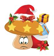 Christmas cartoon face emotions Stock Illustration