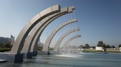Stock Video Footage of Fountain in Abu Dhabi