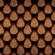 abstract drops stacked for seamless background, structuring a wooden surface - stock illustration