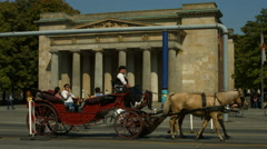 Horse carriage at Berliner Neue Wache Stock Footage