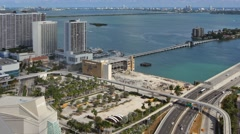 Miami herald building destruction static aerial 4k Stock Footage